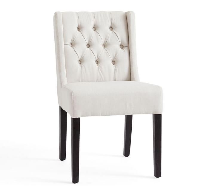 small scale upholstered dining chairs porch and table sorrel tufted chair