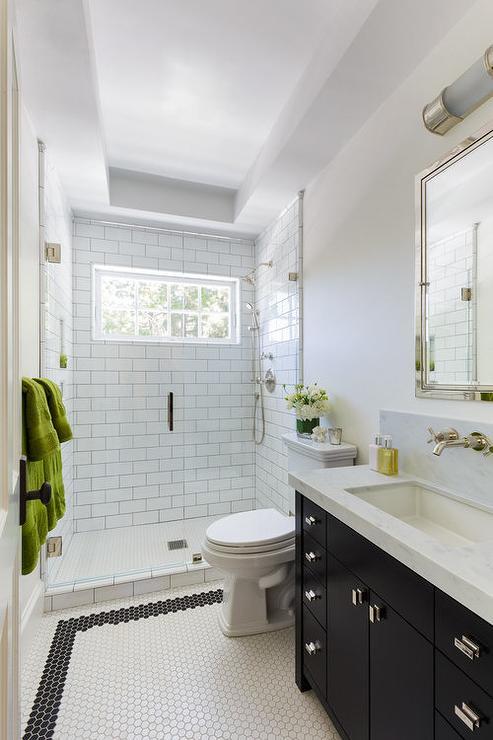 Trough Sink Transitional Bathroom Lonny Magazine