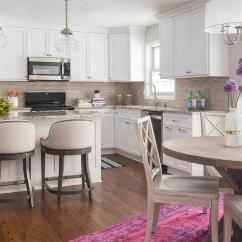 Shaker Kitchen Island Farmers Sink Brown Granite Countertops - Transitional ...