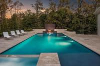 Modern Gray Adjustable Pool Loungers with Gray Outdoor ...