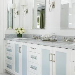 Black Kitchen Cabinet Pulls Range Reviews Blue Washstand With Eclipse Doors - Transitional ...