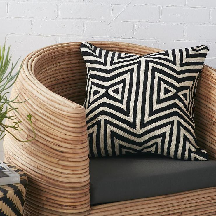 black and white geometric pillow online