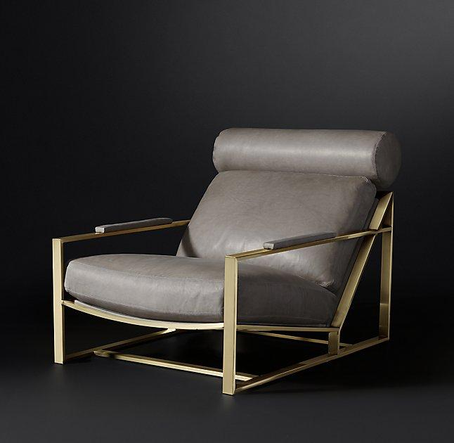 Reginald Gray Gold Leather Chair