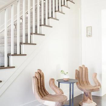 wood hand chair spider man foyer design ideas noir buddha chairs and dark oak herringbone floors