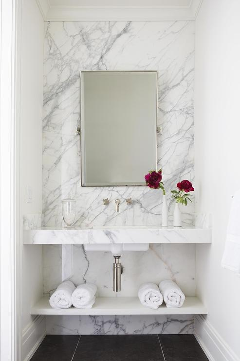 Marble Sink  Contemporary  bathroom  Jackson Paige Interiors
