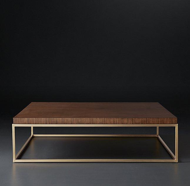 square walnut coffee table