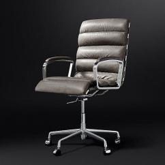 Tufted Desk Chair Floor Mat Oviedo Channel Leather