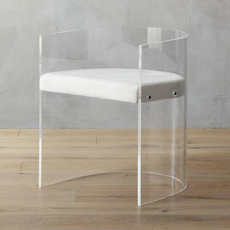 Antonio Curved Acrylic Chair
