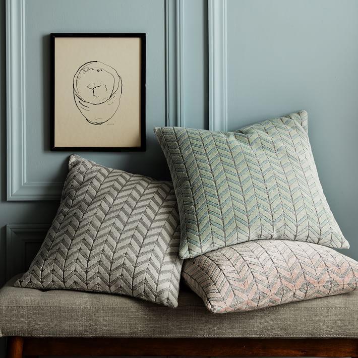 jacquard velvet mosaic pillow covers