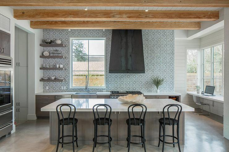 black stainless steel kitchen sink walmart chairs walker zanger duquesa fatima mezzanotte tile design ideas