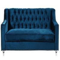 Blue Velvet Tufted Sofa Blue Velvet Tufted Sofa