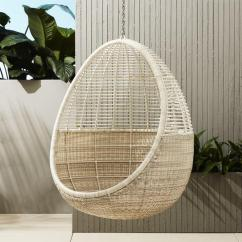Hanging Wicker Chair King Hickory White Pod