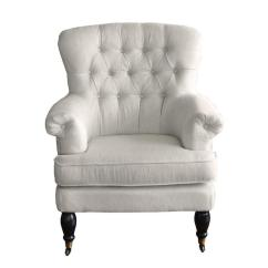 White Tufted Chair Steelcase Amia Canada Deep Track Arms Wingback Rolled