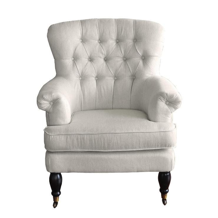 white tufted chair covers qatar deep track arms wingback rolled