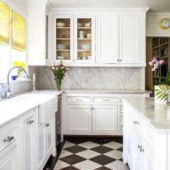 White Kitchen Floor Fan Filter And Black Harlequin Floors Transitional