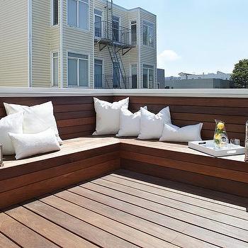l shaped teak bench design ideas