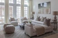Aqua Blue and Charcoal Gray Living Room Design ...