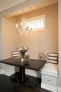 Breakfast Nook with Clear Beaded Chandelier - Transitional ...