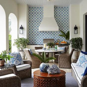 outdoor kitchen hood ceramic tile for white stucco design ideas and blue mosaic cement tiles
