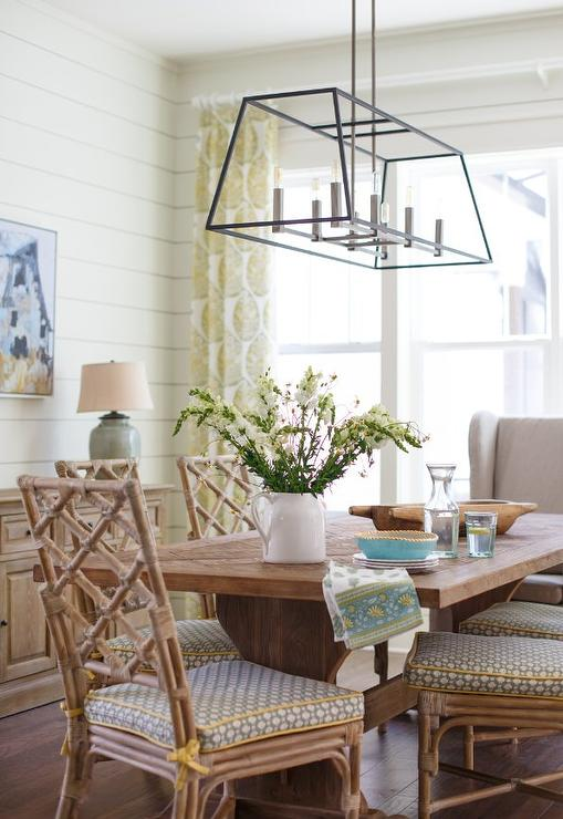 Oval Salvaged Wood Dining Table With White Slipcovered