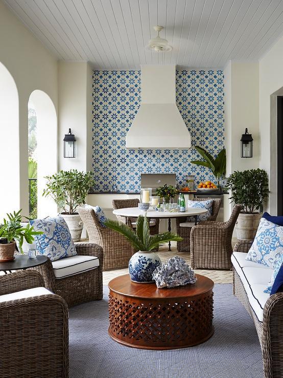 black and blue spanish mosaic tiles