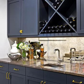 Navy KItchen Cabinets  Contemporary  kitchen  Benjamin