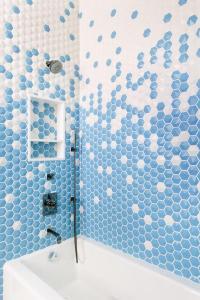Master Bath with New Ravenna Pembroke Tiles - Contemporary ...