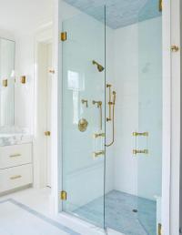 Blue Shower Tiled Ceiling Design Ideas