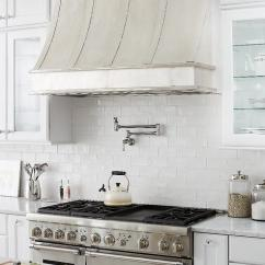 Kitchen Vent Hood Pull Out Shelves For Cabinets Smooth Burnished Brass Transitional