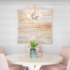 Pink Dining Room Chairs White Round Chair Blush With Cream Table