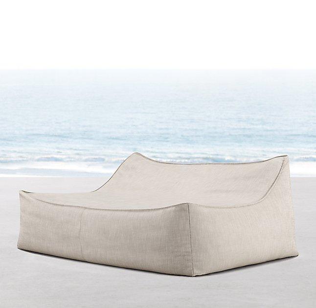 double lounge chair outdoor nursery glider rocking ibiza cream