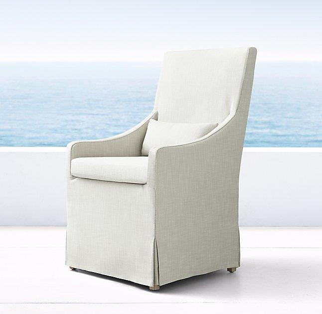 club chair slipcover kitchen table chairs set miles side - crate&barrel