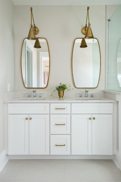 French Deco Horn Sconce  Contemporary  bathroom  Angie