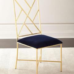 Gold Dining Chairs Acrylic Folding Sadie Fretwork Velvet Chair