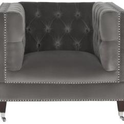 Grey Sofa With Silver Nailheads Fabric Sofas For Cheap Gray Velvet Chatham Arm Chair - Kirkland's