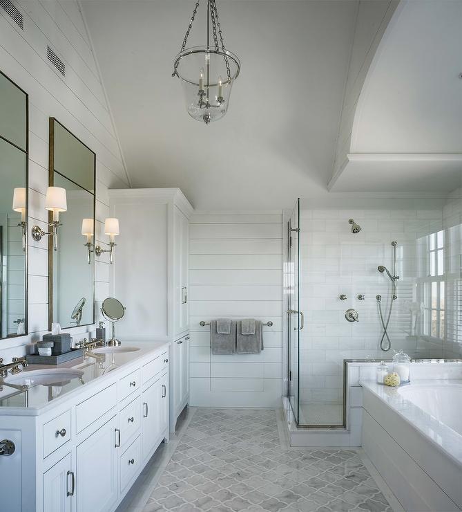 Bathroom with Shiplap Wainscoting  Cottage  Bathroom
