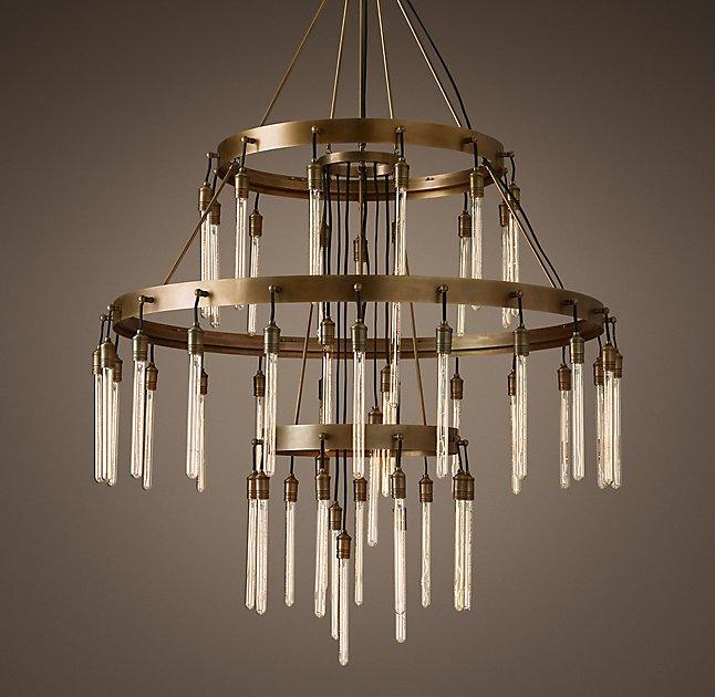 Axis 3 Tier Filament Bulbs Chandelier
