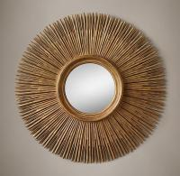 Wood Sunburst Mirror - Home Design