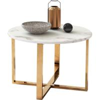 Shannon White Marble Gold Side Table