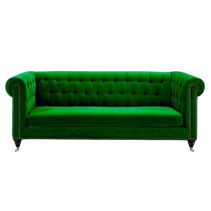 moss green velvet chesterfield sofa sofas with recliners and cup holders jadelyn grey tufted