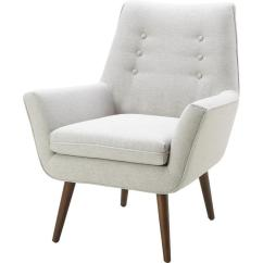 White Tufted Chairs Office Chair High Back Milo Armchair