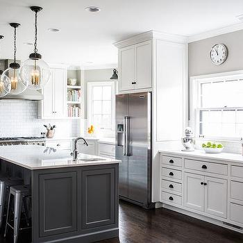 kitchen pendant lights over island light ideas white cabinets with charcoal gray ...