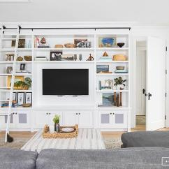 What Size Rug For Living Room Sectional Rustic Design Furniture Built In Tv Shelves With Ladder On Rails - Cottage ...
