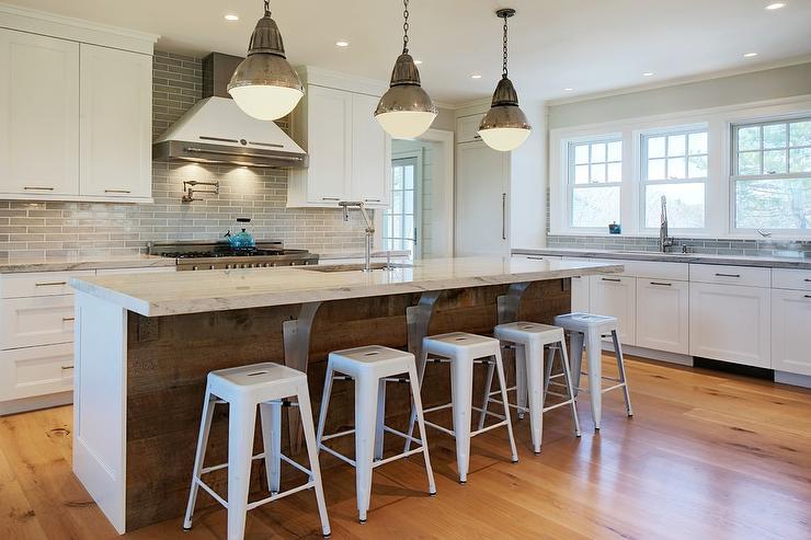 Gray Paneled Kitchen Cabinets Country Kitchen John