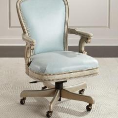 Blue Leather Office Chair Swivel Joke Massoud Lilly