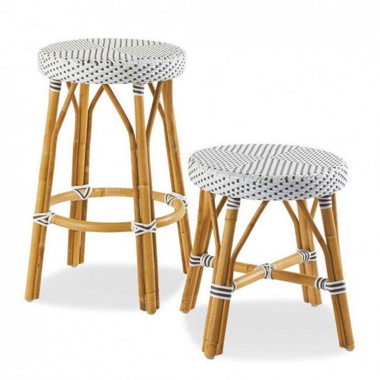 wayfair kitchen stools portable island with seating terra bamboo swivel counter height bar stool in white