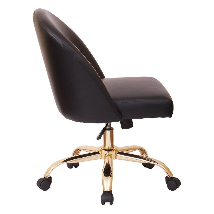 black leather desk chairs pool table mid back gold chair