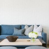 Blue Denim Sofa - Contemporary - Living Room