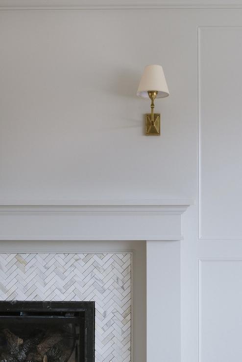 white marble fireplace surround tiles