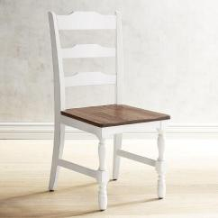 Farmhouse Dining Chairs Chair Steel Leather Heartland Distressed White
